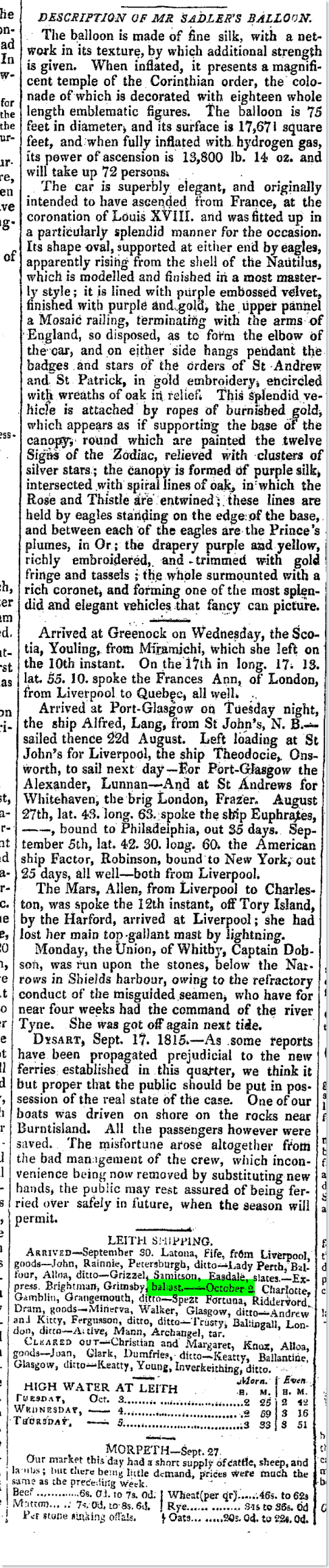 Caledonian Mercury (Edinburgh, Scotland), Monday, October 2, 1815; Issue 14640 2