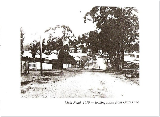 COXS LANE MAIN ROAD