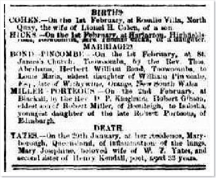 MARY JOSEPHINEarticle910654-3-001The Brisbane Courier, Friday 4 February 1881, page 2