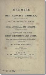 memoirs 1852