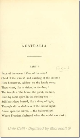 POEM 1825 AUSTRALUA