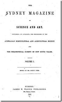 SYDNEY MAGAZINE 1838