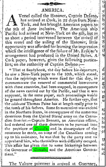 The Hull Packet and Original Weekly Commercial, Literary and General Advertiser (Hull, England), Tuesday, July 18, 1809; Issue 1175.