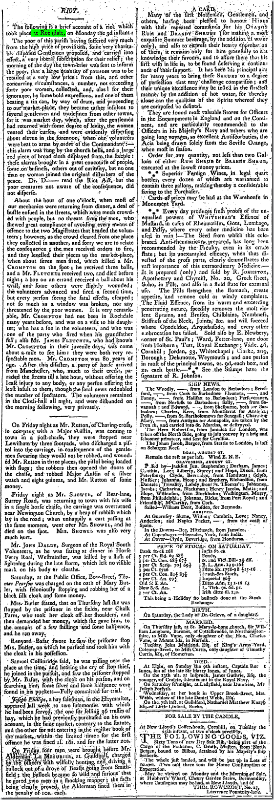 Star (London, England), Monday, August 24, 1795; Issue 2189.