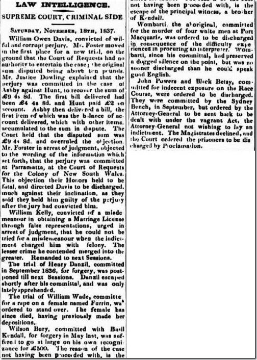 BURY AND BASIL The Sydney Monitor (NSW 1828-1838), Wednesday 22 November 1837